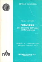 Book Cover: Eutanasia: una sconfitta dell'uomo contemporaneo